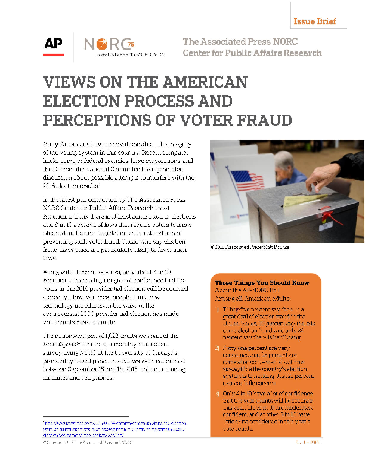 Views on the American Election Process and Perceptions of Voter Fraud