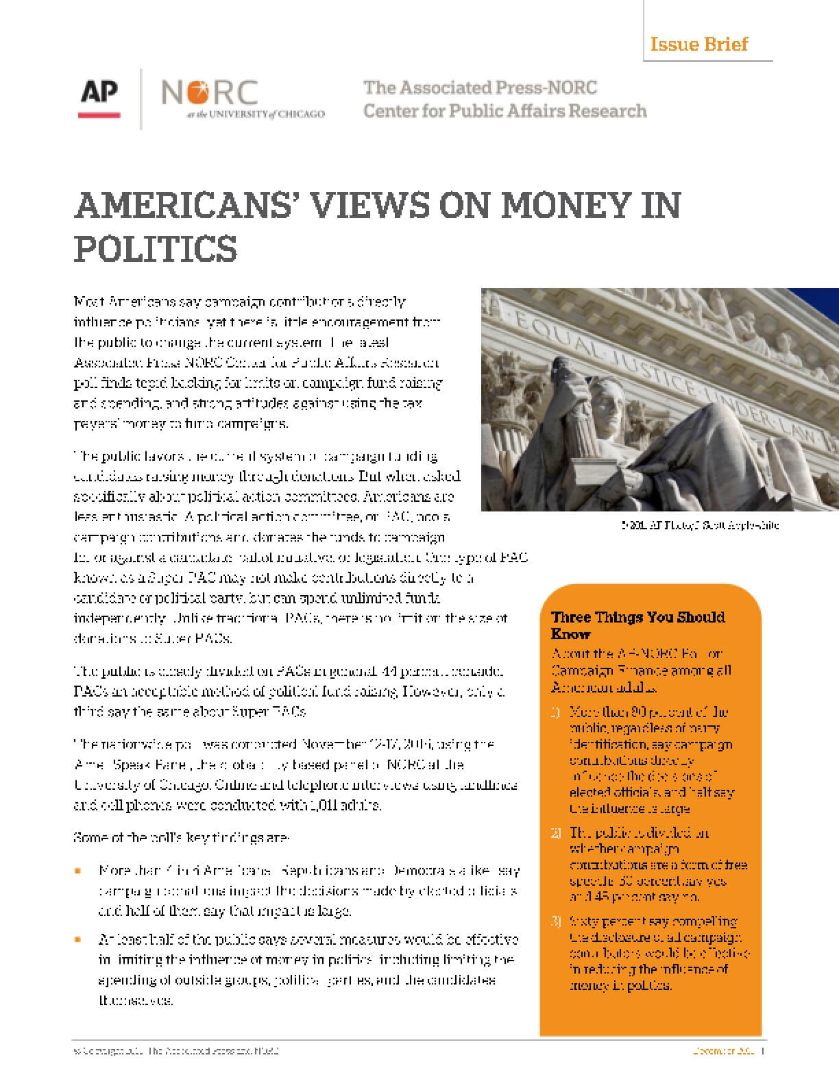 Americans' Views on Money in Politics