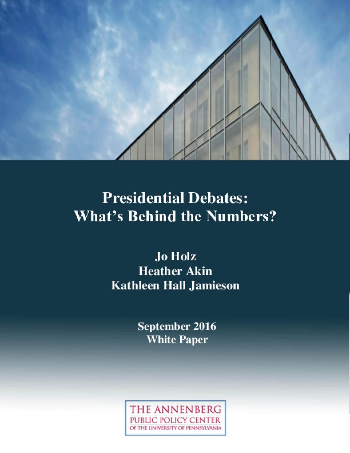 Presidential Debates: What's Behind the Numbers?