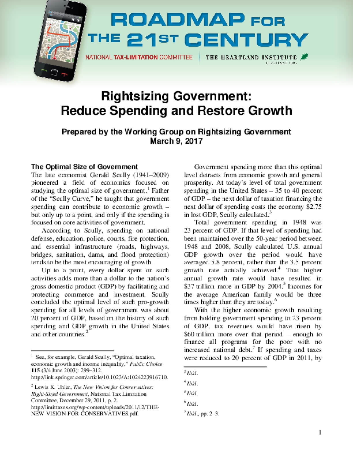 Roadmap for the 21st Century: Rightsizing Government