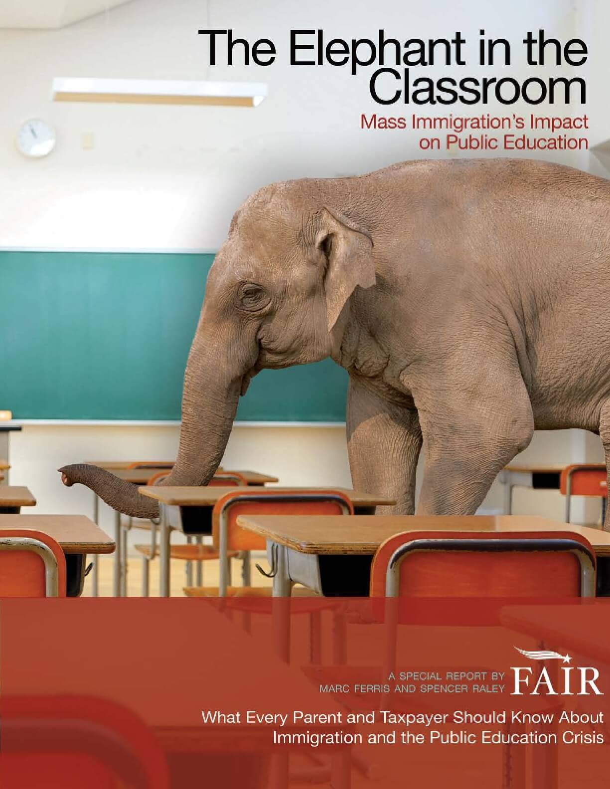 The Elephant in the Classroom: Mass Immigration's Impact on Public Education