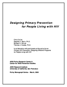 Designing Primary Prevention for People Living with HIV