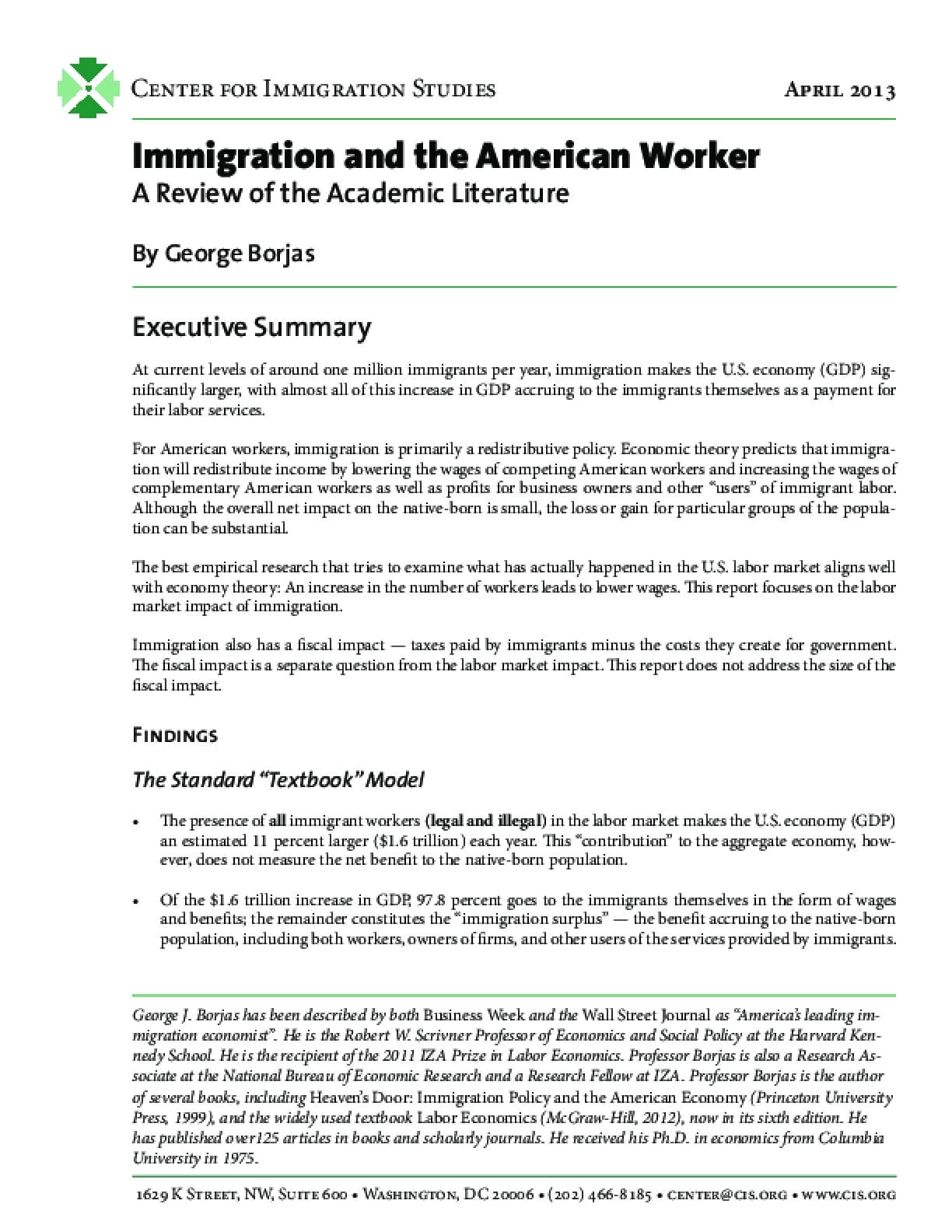 Immigration and the American Worker