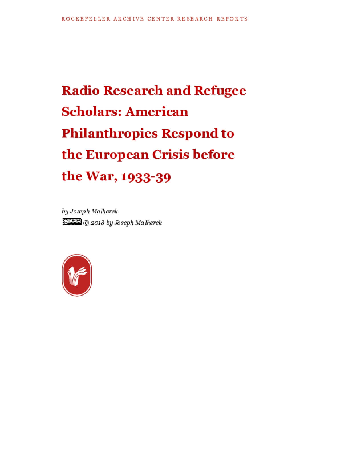 Radio Research and Refugee Scholars: American Philanthropies Respond to the European Crisis before the War, 1933-39