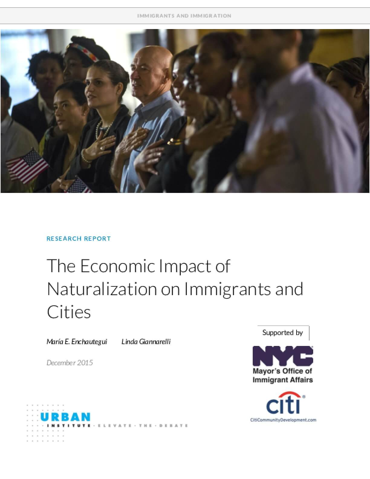 The Economic Impact of Naturalization on Immigrants and Cities