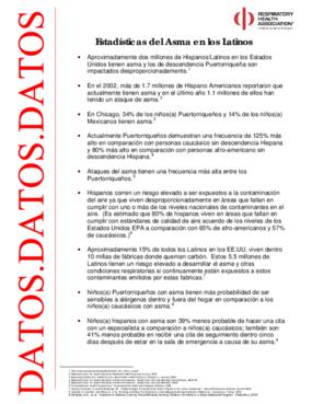 Estadsticas del Asma en Los Latinos