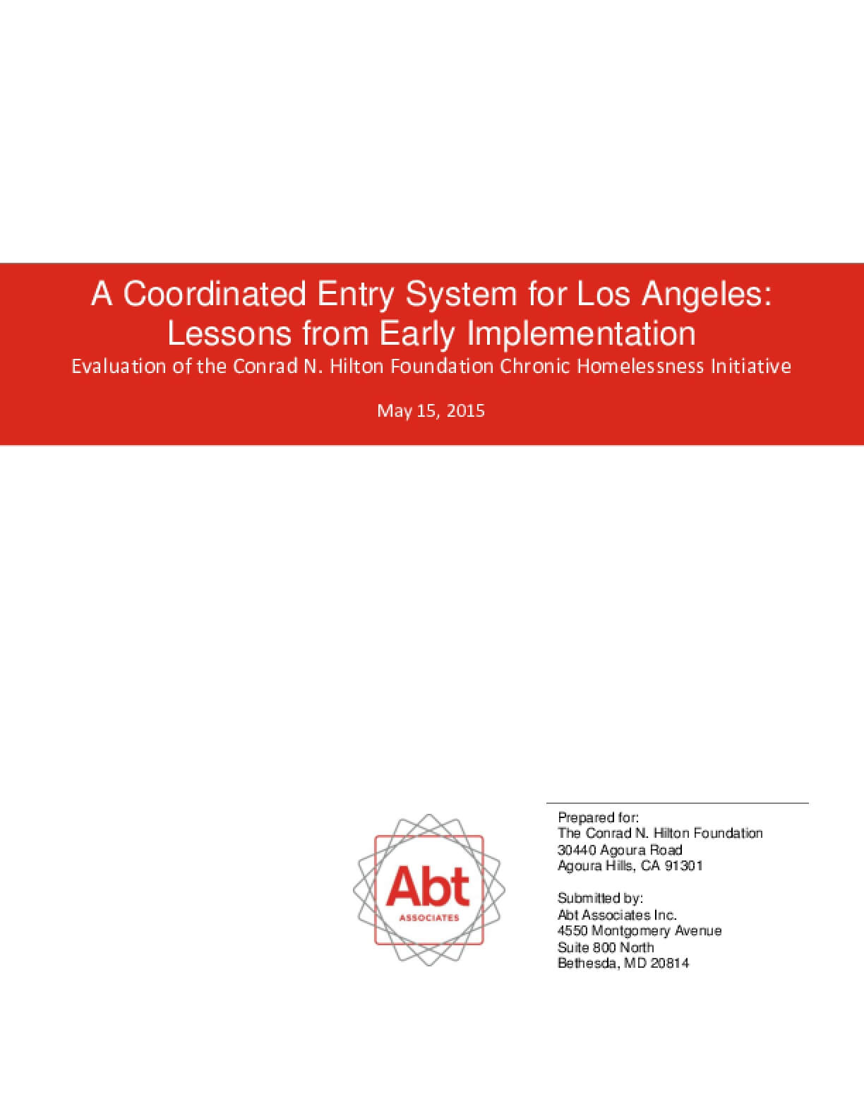Coordinated Entry System for Los Angeles: Lessons from Early Implementation