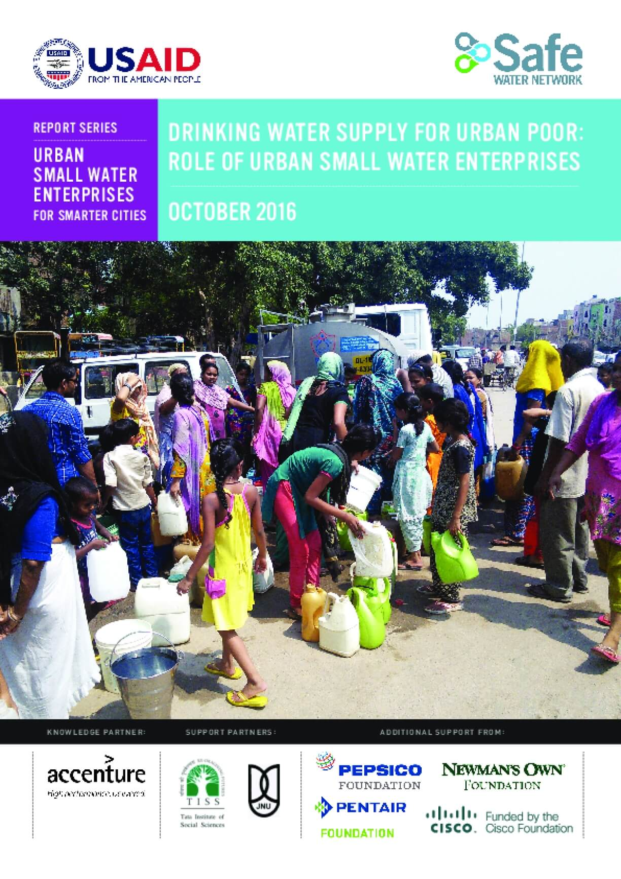 Drinking Water Supply for Urban Poor: Role of Urban Small