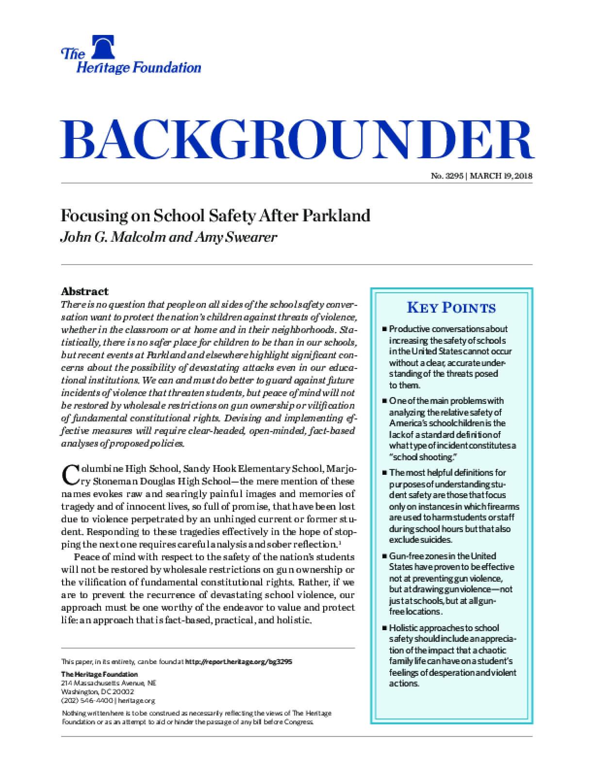 Focusing on School Safety After Parkland