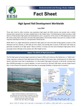 High Speed Rail Development Worldwide