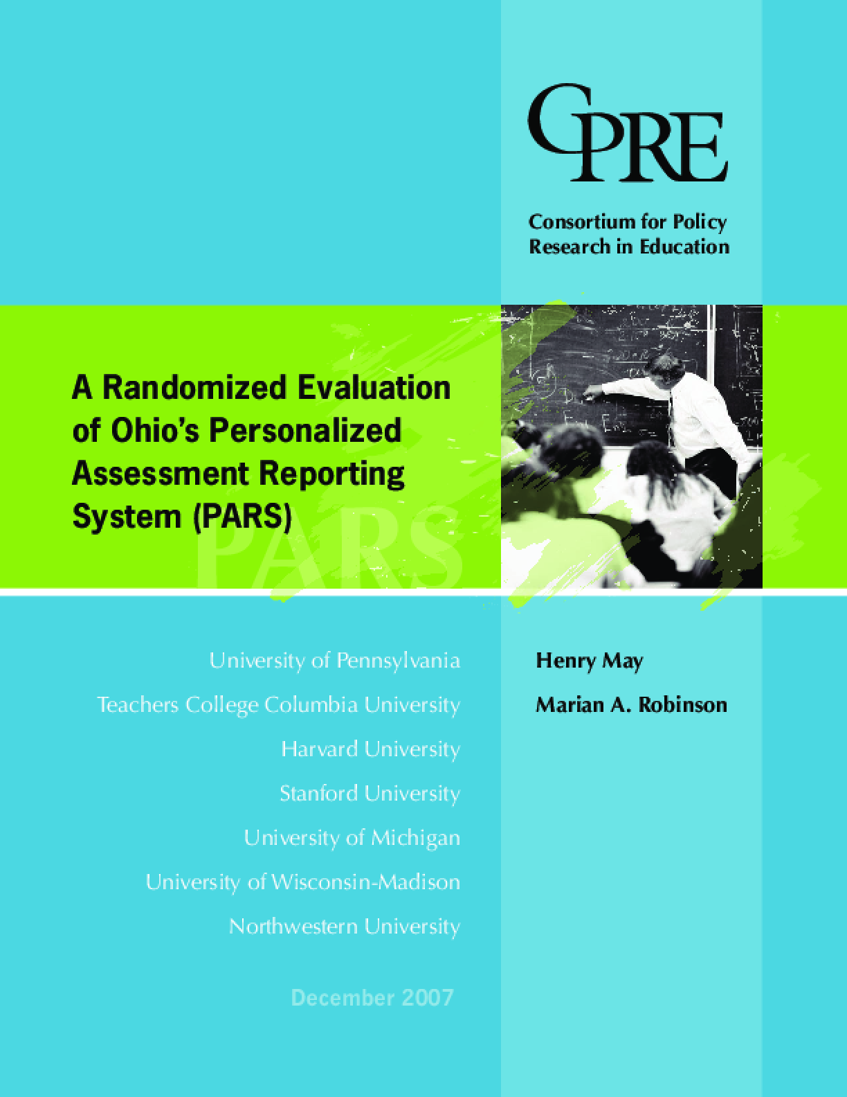 A Randomized Evaluation of Ohio's Personalized Assessment Reporting System (PARS)
