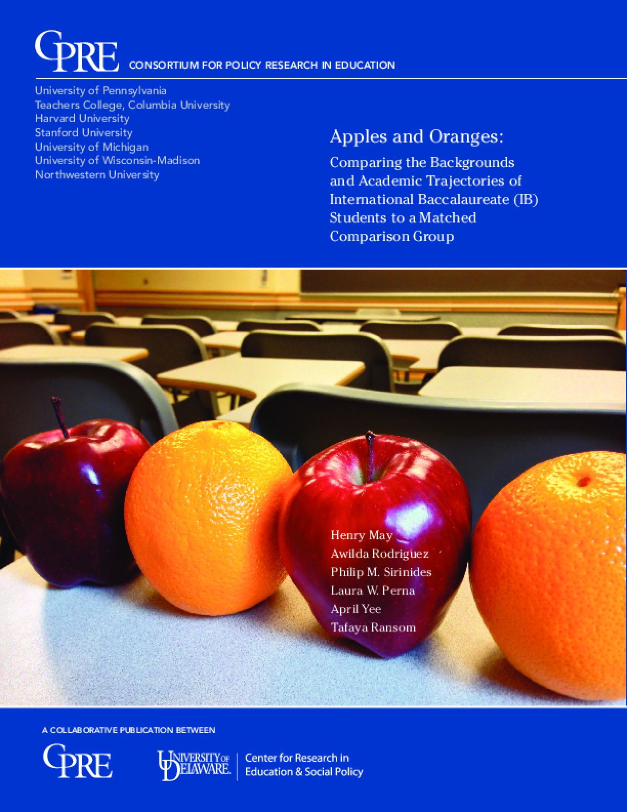 Apples and Oranges: Comparing the Backgrounds and Academic Trajectories of International Baccalaureate (IB) Students to a Matched Comparison Group