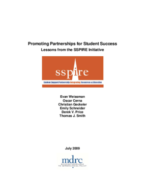 Promoting Partnerships for Student Success: Lessons from the SSPIRE Initiative