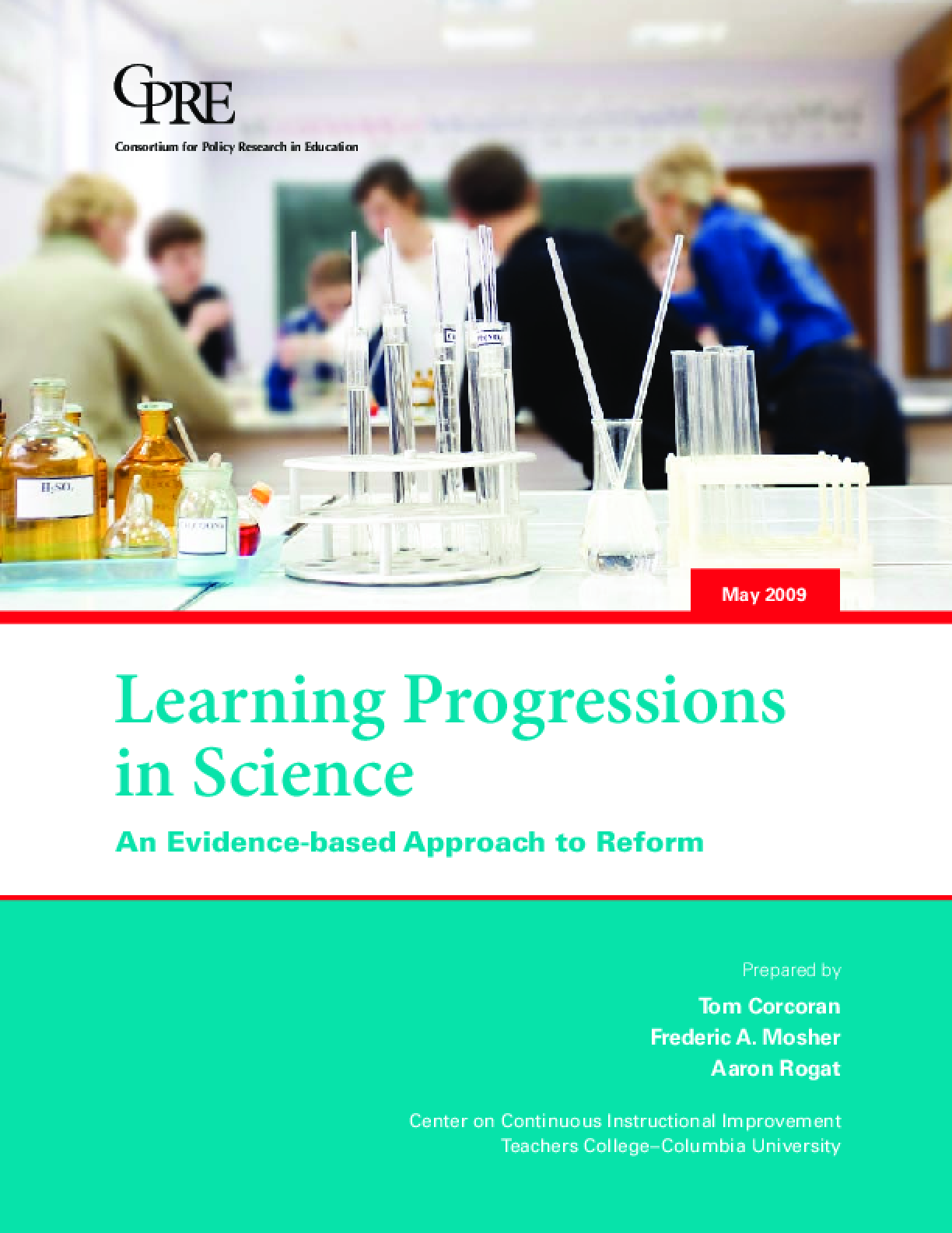 Learning Progressions in Science: An Evidence-Based Approach to Reform