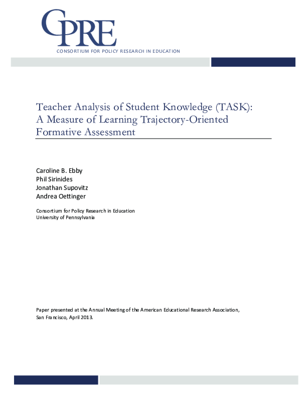 TASK Technical Report