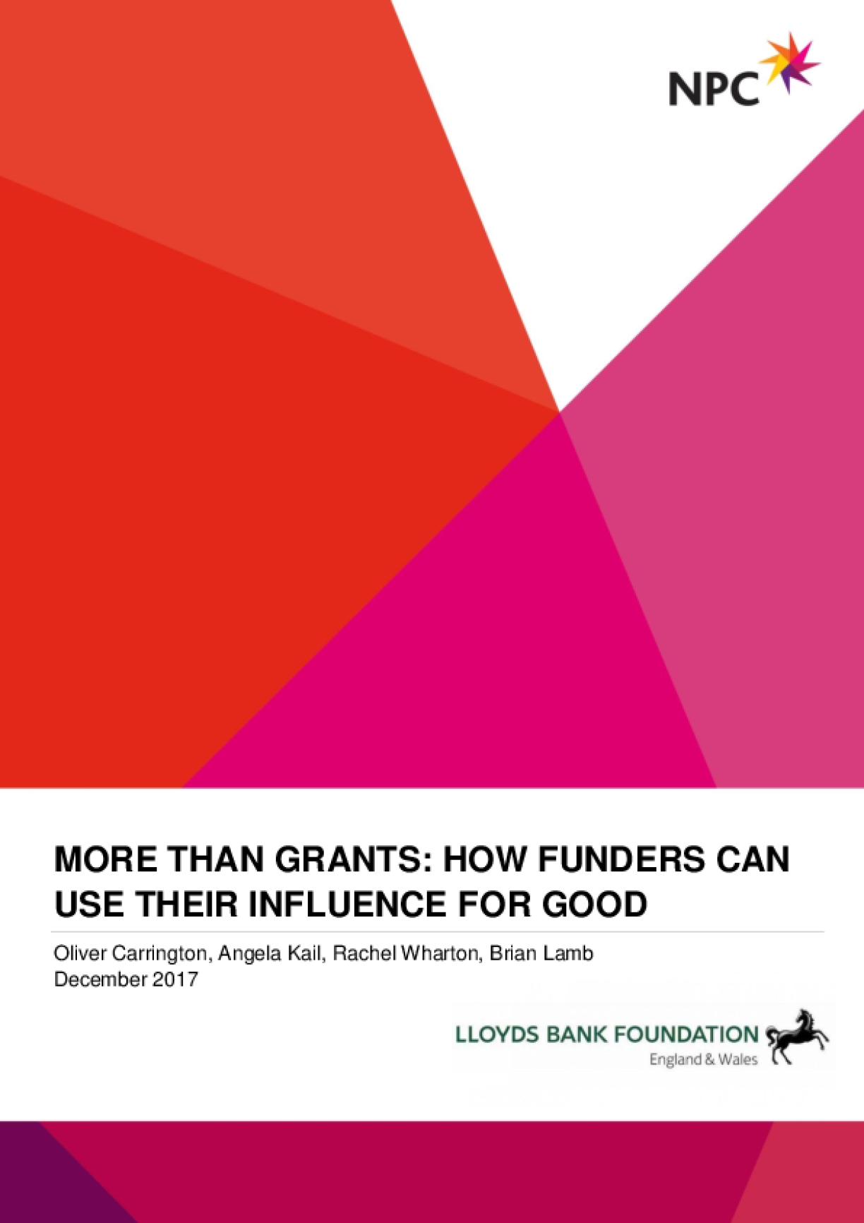 More than Grants: How Funders Can Use Their Influence for Good