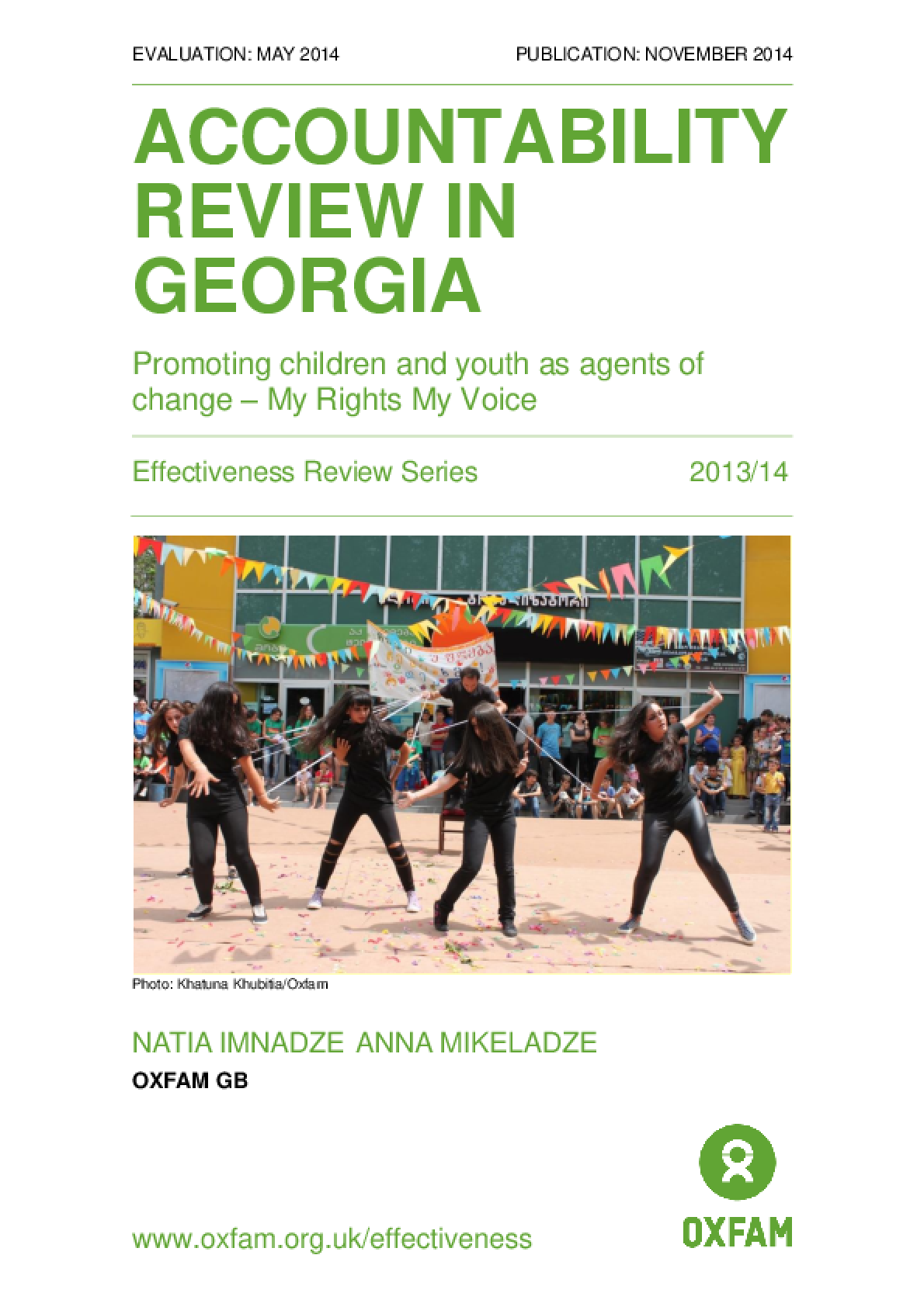 Accountability Review in Georgia: Promoting children and youth as agents of change - My Rights, My Voice