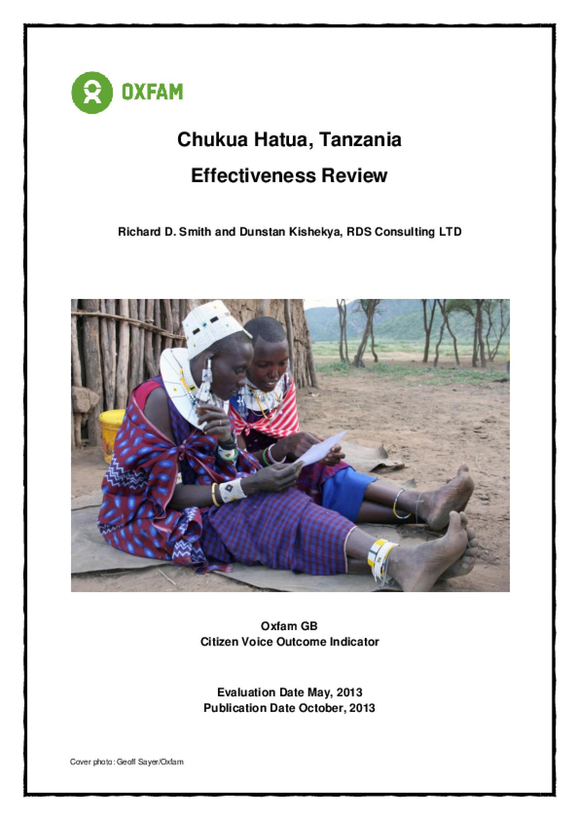 Effectiveness Review: Chukua Hatua Tanzania