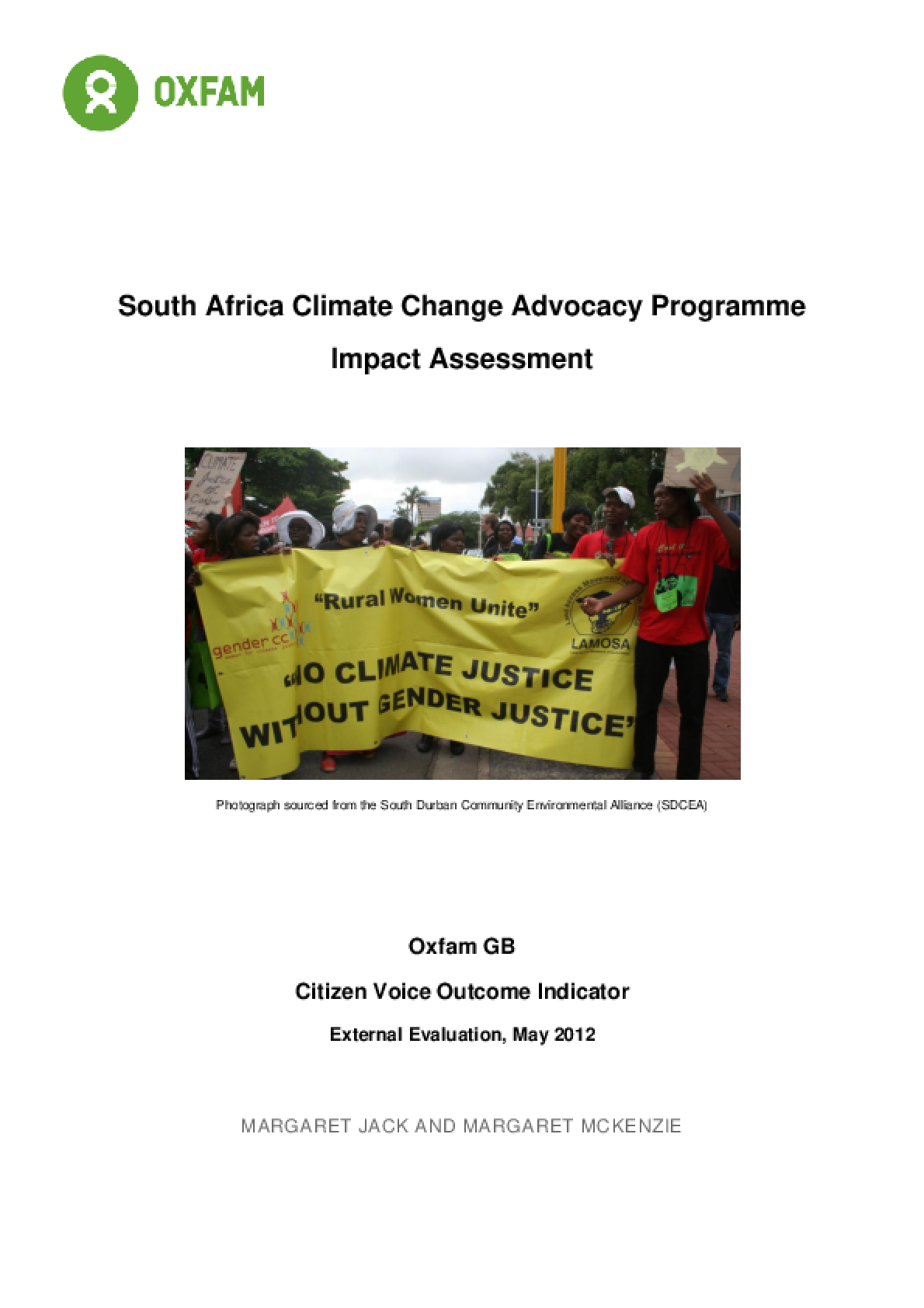 Effectiveness Review: Climate Change Advocacy Programme, South Africa
