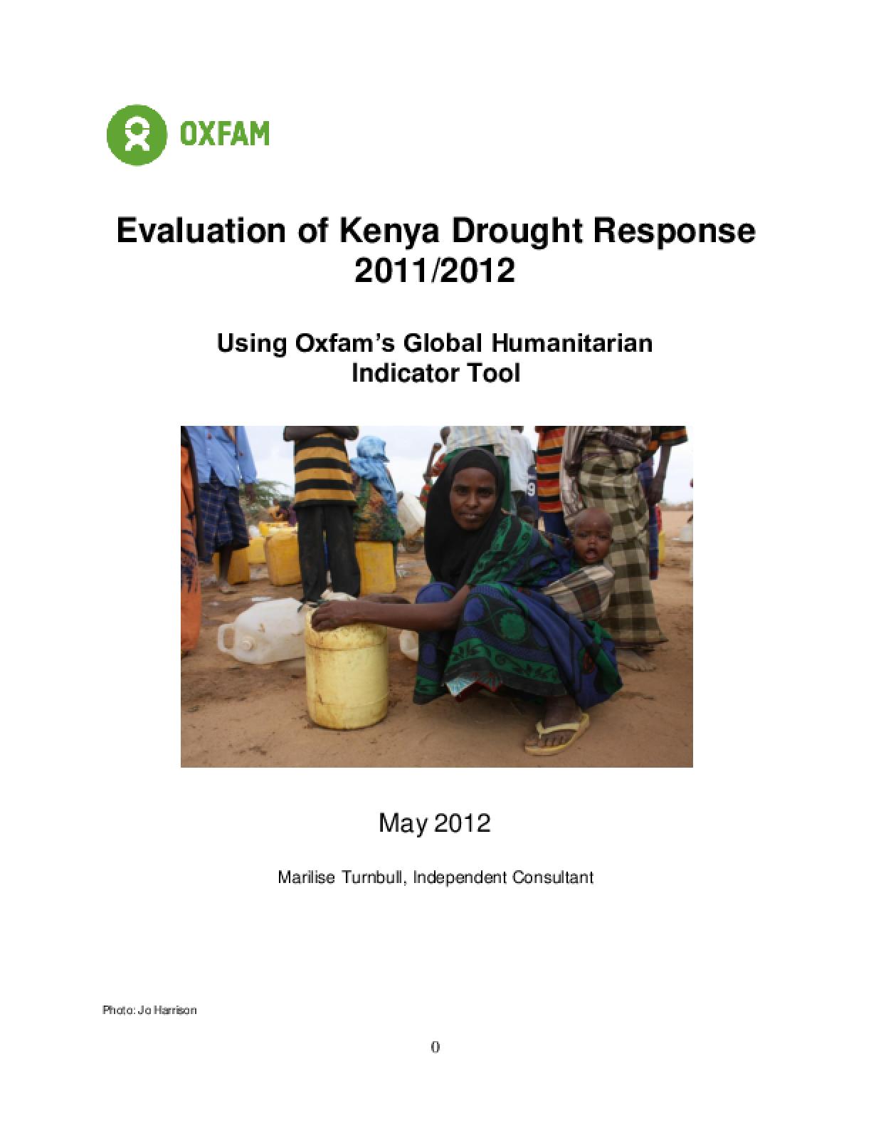 Effectiveness Review: Kenya Drought Response 2011/12