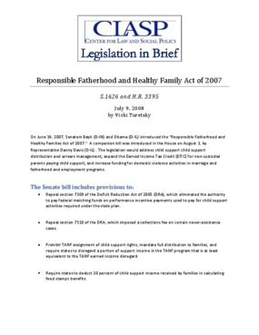 Responsible Fatherhood and Healthy Families Act of 2007