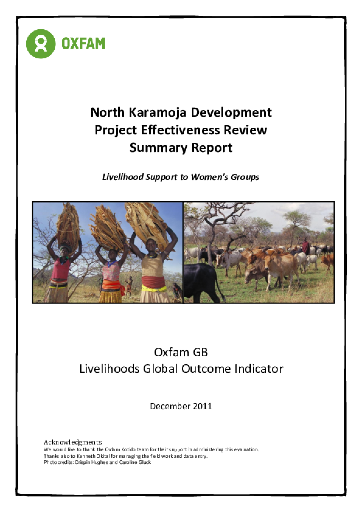 Effectiveness Review: North Karamoja Development Project, Uganda