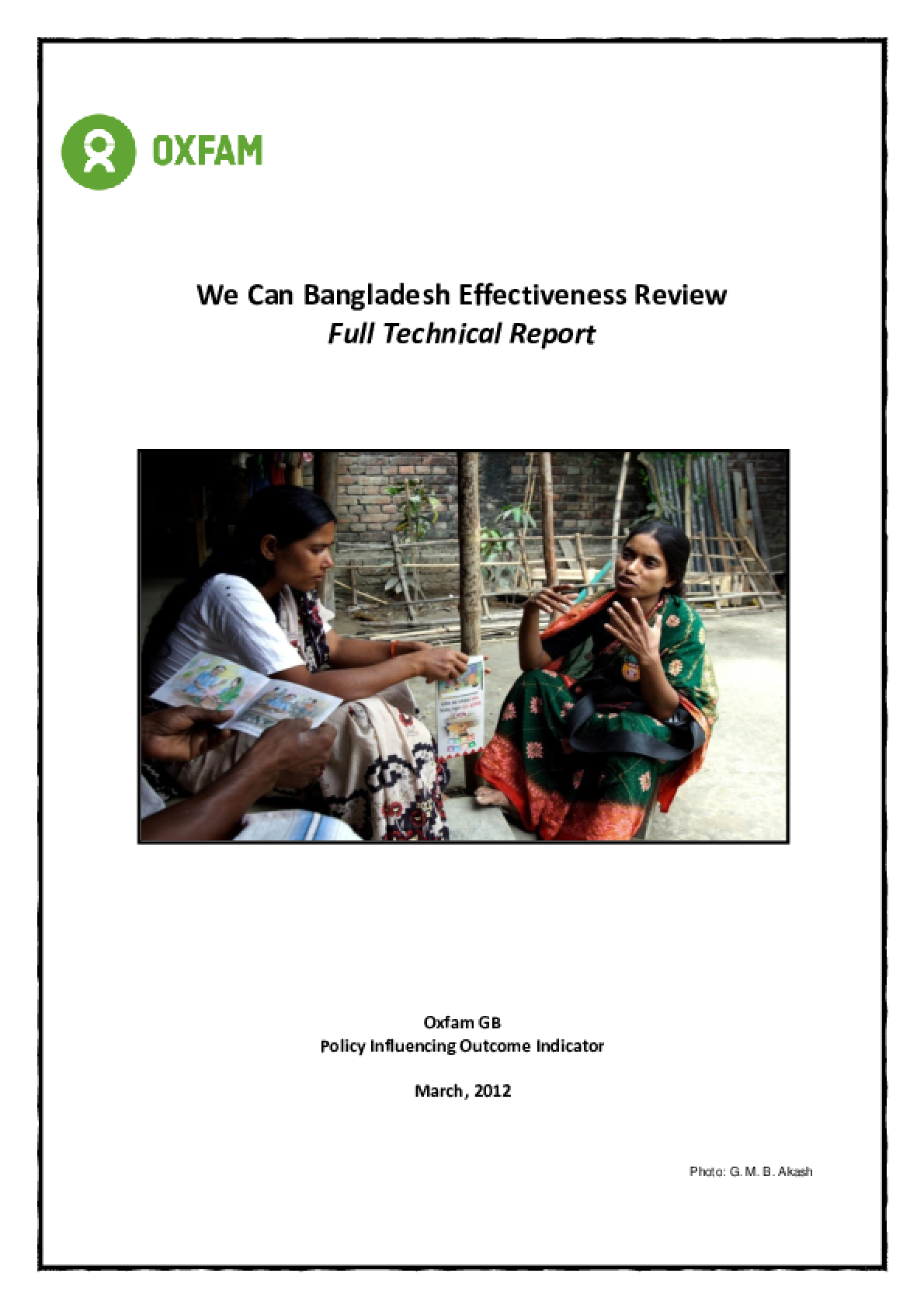 Effectiveness Review: We Can Campaign, Bangladesh