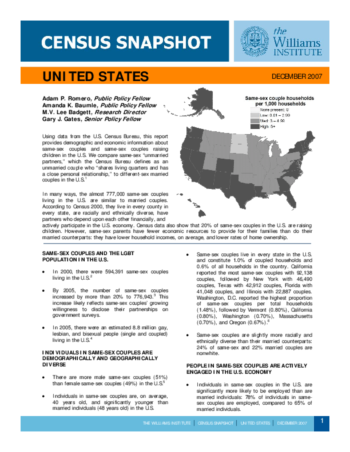 Census Snapshot: United States