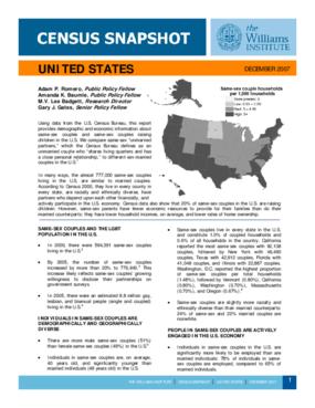 Census Snapshot: United States