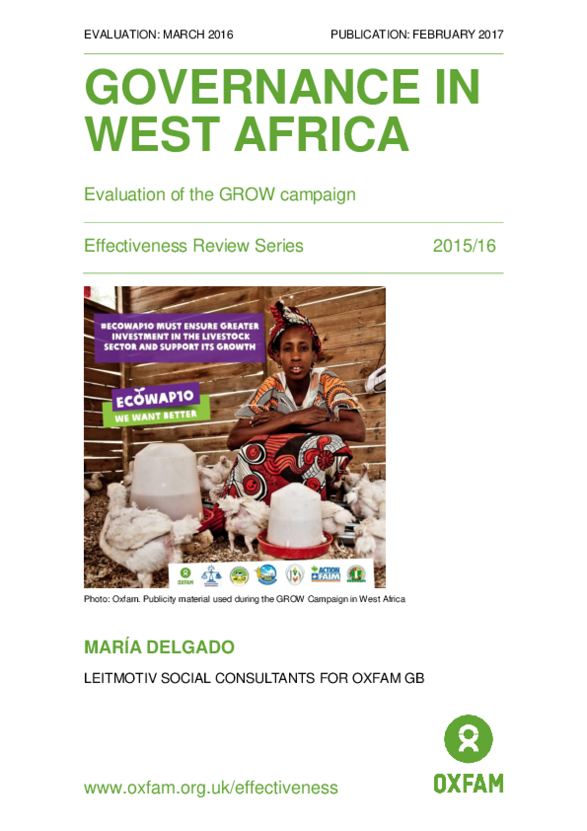 Governance in West Africa: Evaluation of the GROW Campaign