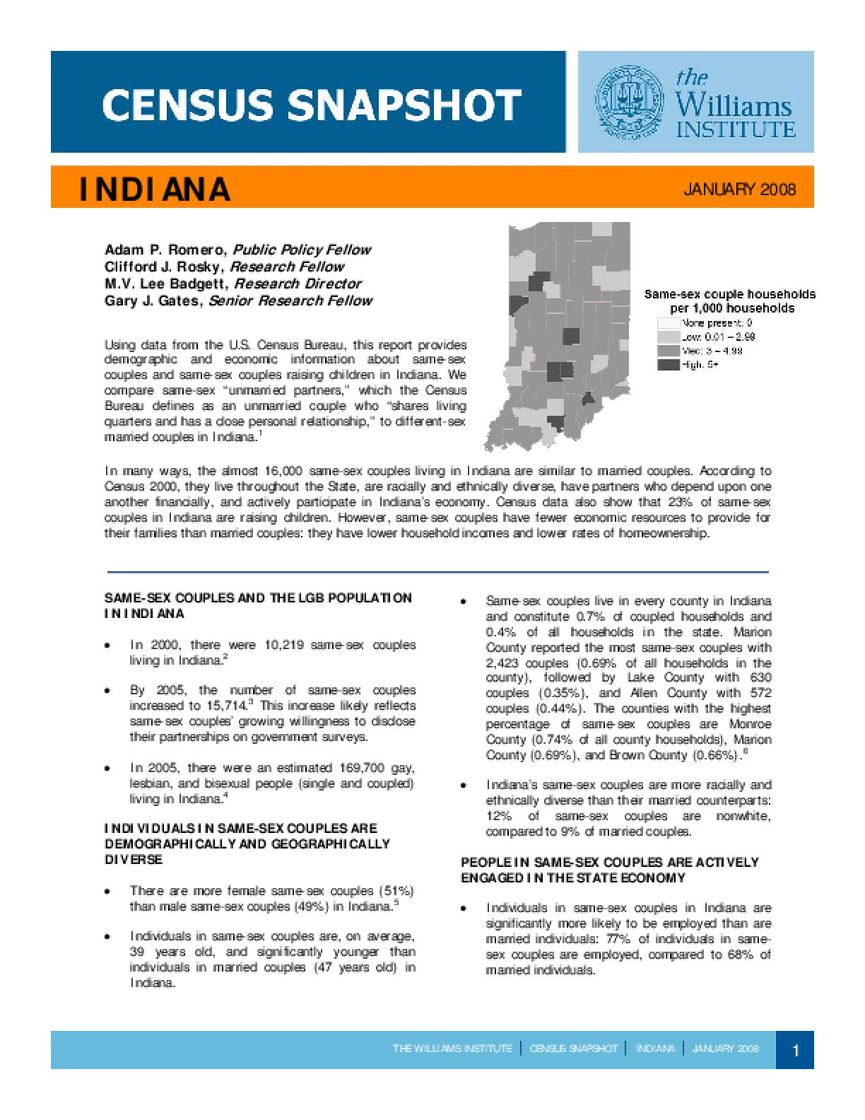 Census Snapshot: Indiana