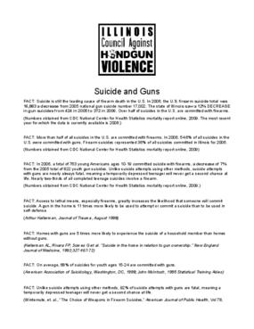 Suicide and Gun Violence Factsheet