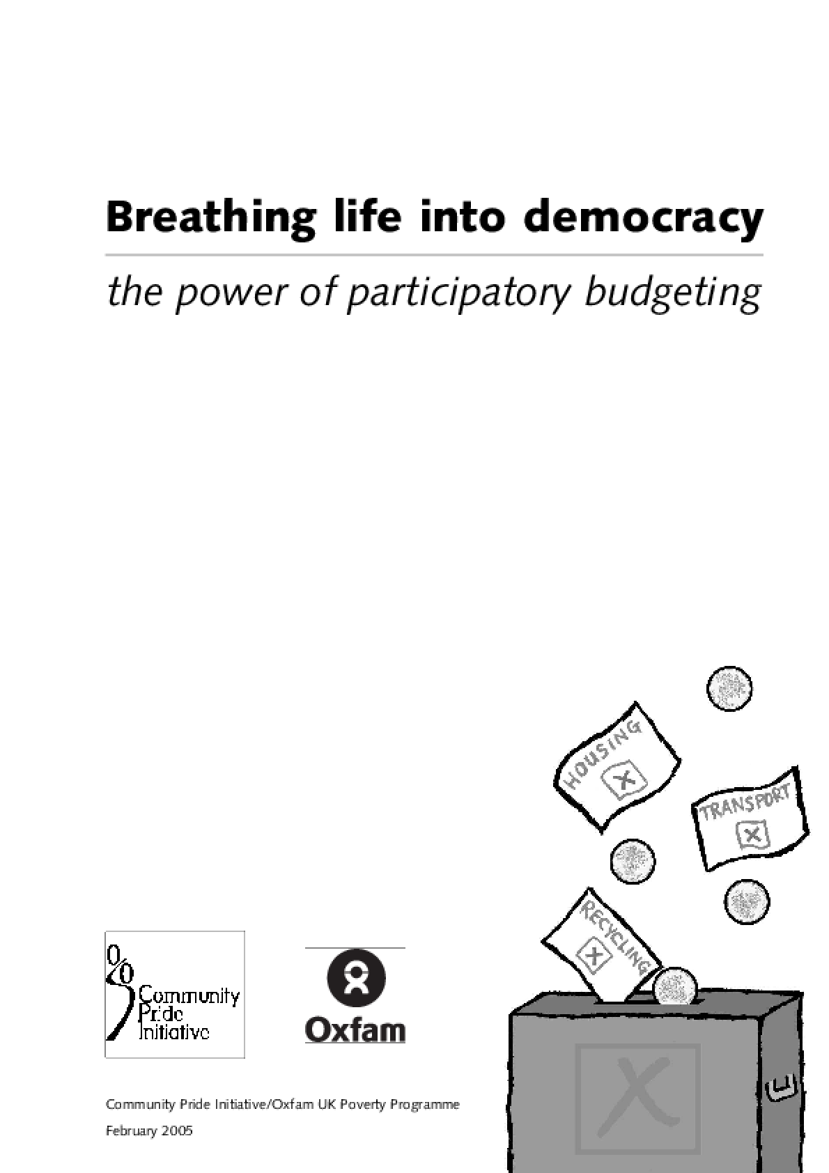 Breathing Life into Democracy: The power of participatory budgeting