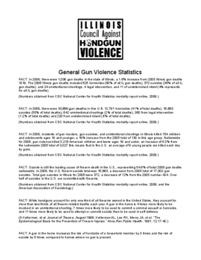 General Gun Violence Statistics