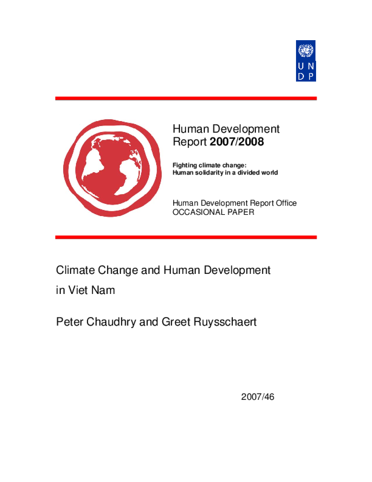 Climate Change and Human Development in Viet Nam: A case study for how change happens