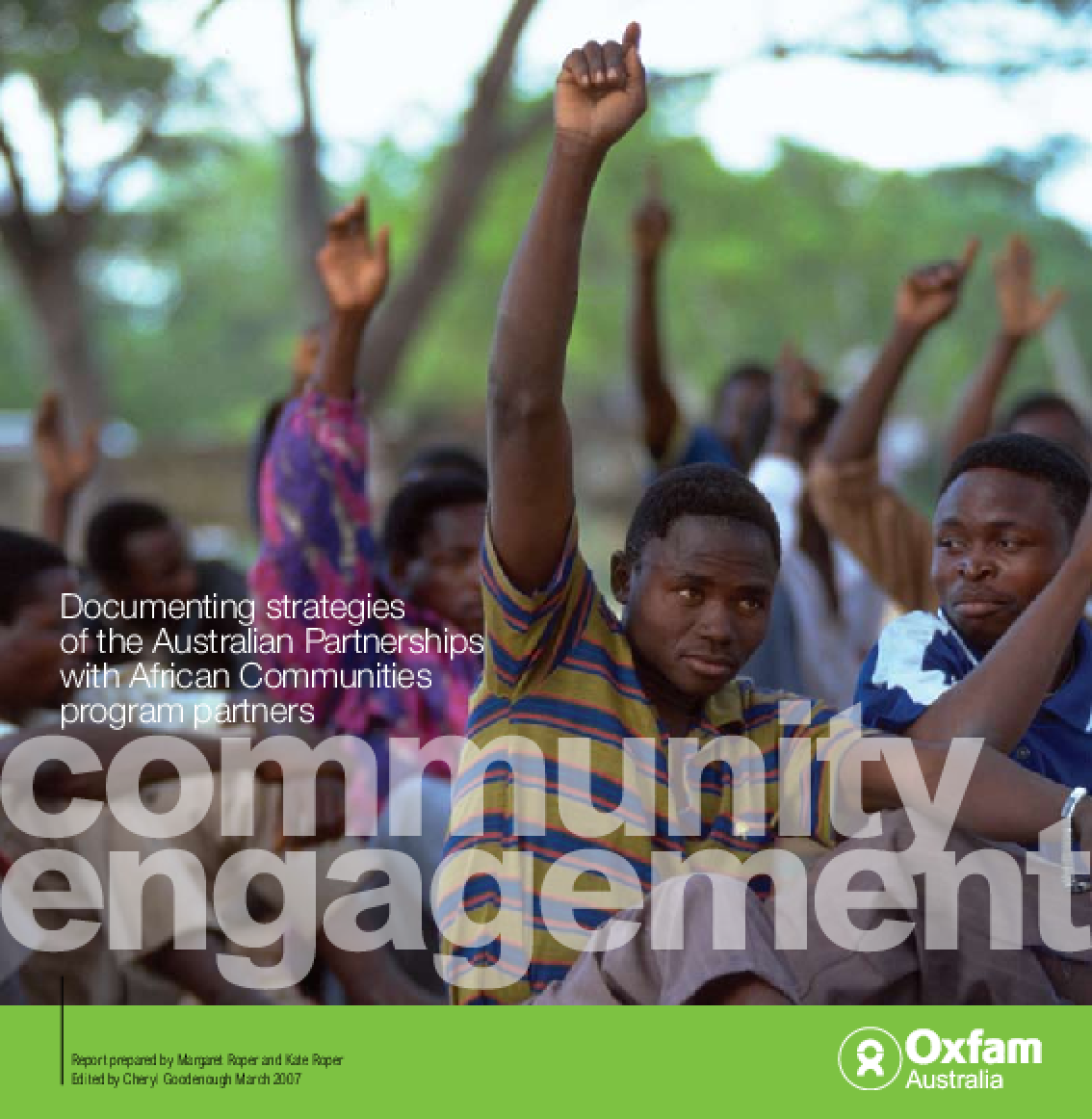 Community Engagement: Documenting strategies of the Australian Partnerships with African Communities Program partners