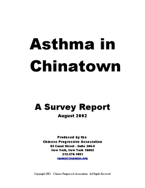 Asthma In Chinatown