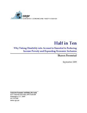 Half in Ten: Why Taking Disability into Account is Essential to Reducing Income Poverty and Expanding Economic Inclusion