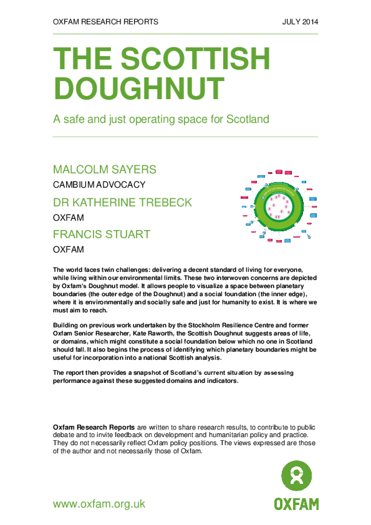 The Scottish Doughnut: A safe and just operating space for Scotland