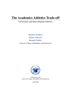 The Academics Athletics Trade-off: Universities and Intercollegiate Athletics