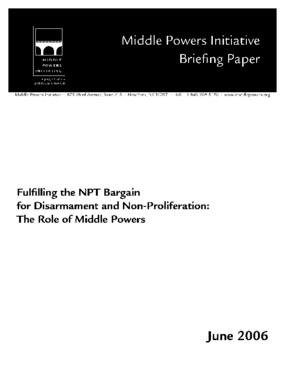 Fulfilling the NPT Bargain: The Role of Middle Powers