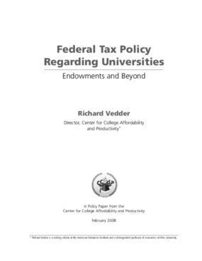 Federal Tax Policy Regarding Universities
