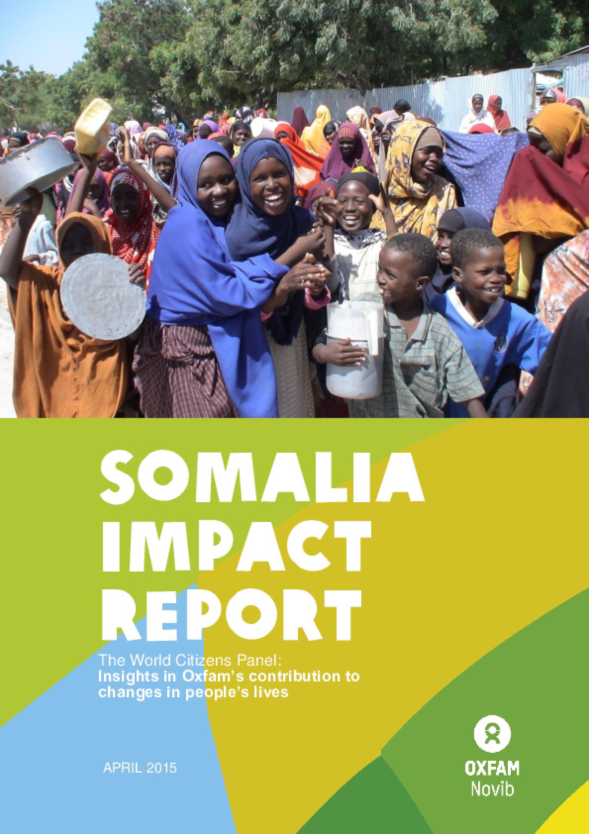 Somalia Impact Report: The World Citizens Panel