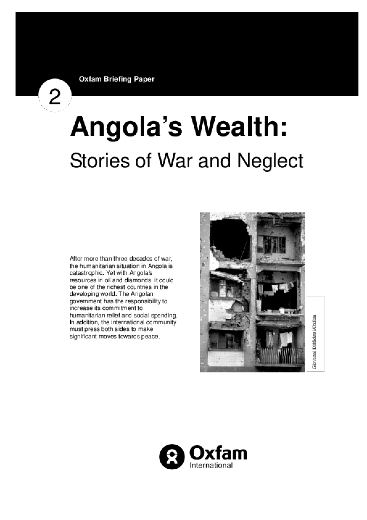 Angola's Wealth: Stories of war and neglect