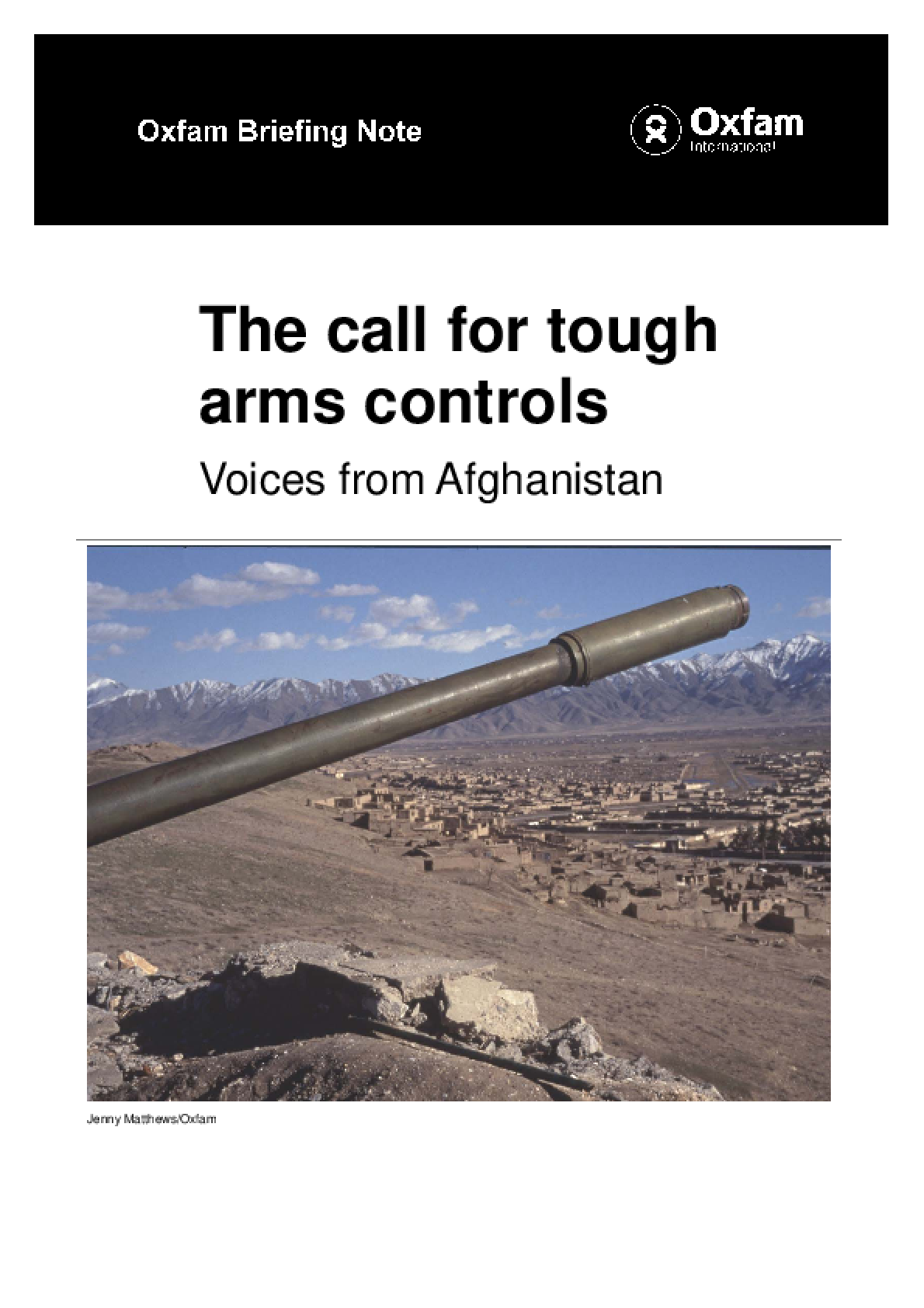 The Call for Tough Arms Controls: Voices from Afghanistan