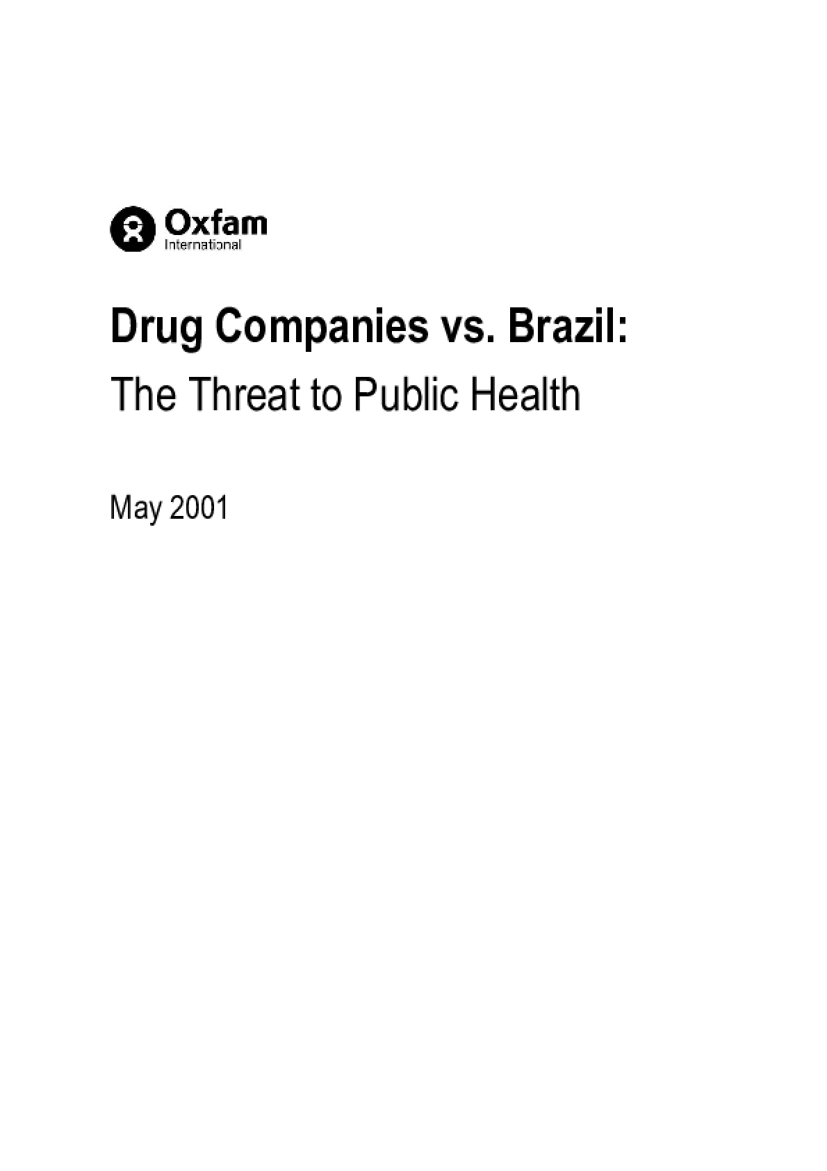 Drug Companies vs. Brazil: The threat to public health