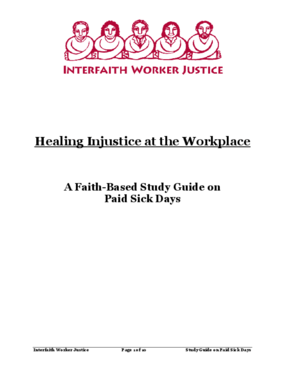 Healing Injustice at the Workplace A Faith-Based Study Guide on Paid Sick Days