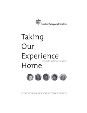 Taking Our Experience Home: A Journey in URI Peacebuilding