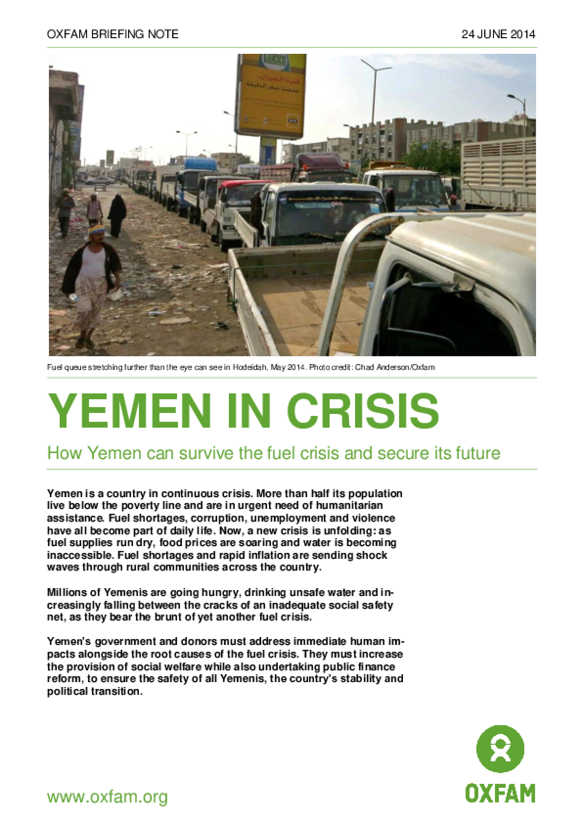 Yemen in Crisis: How Yemen can survive the fuel crisis and secure its future