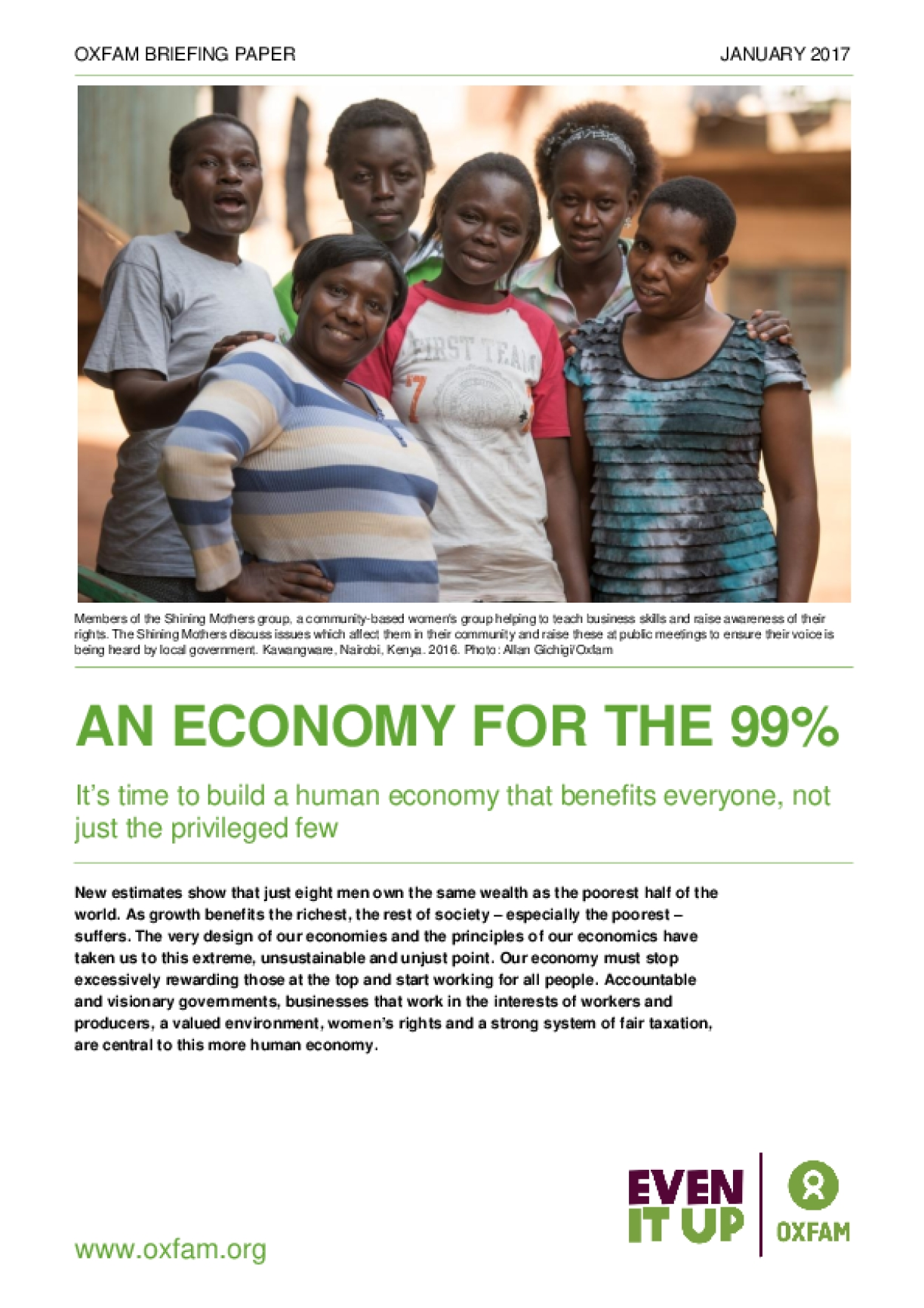 An Economy for the 99%: It's Time to Build a Human Economy That Benefits Everyone, Not Just the Privileged Few